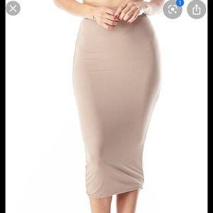 3/$25 Diosa modal double midi skirt size small